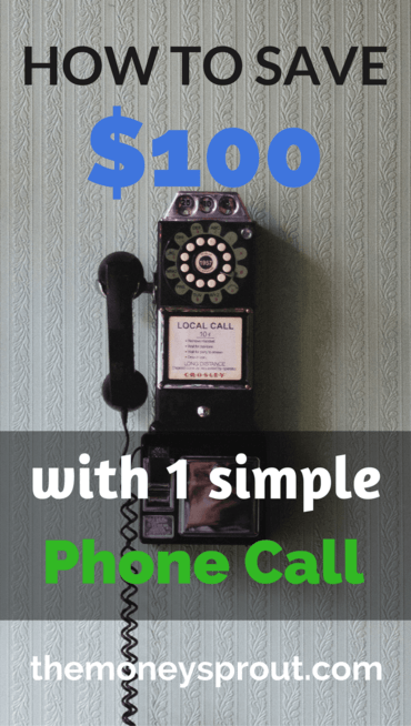 How we saved $96 just by making a quick and simple phone call.