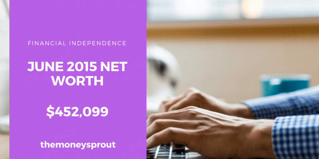 How We Grew Our Net Worth to Over $450,000 in June 2015