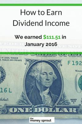 How We Earned $111.51 in Dividends in January 2016
