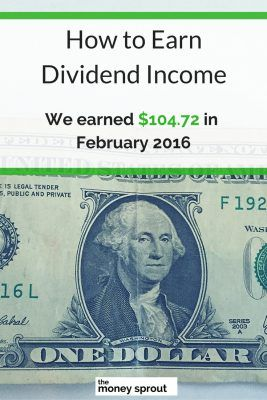 How We Earned $104.72 in Dividends in February 2016