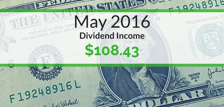 Dividend Income We Earned for May 2016