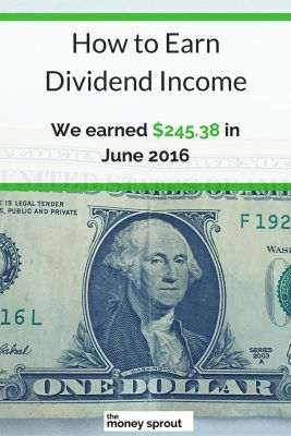 How We Earned $245.38 in Dividends in June 2016