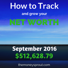 How to Track and Grow Your Net Worth - September 2016