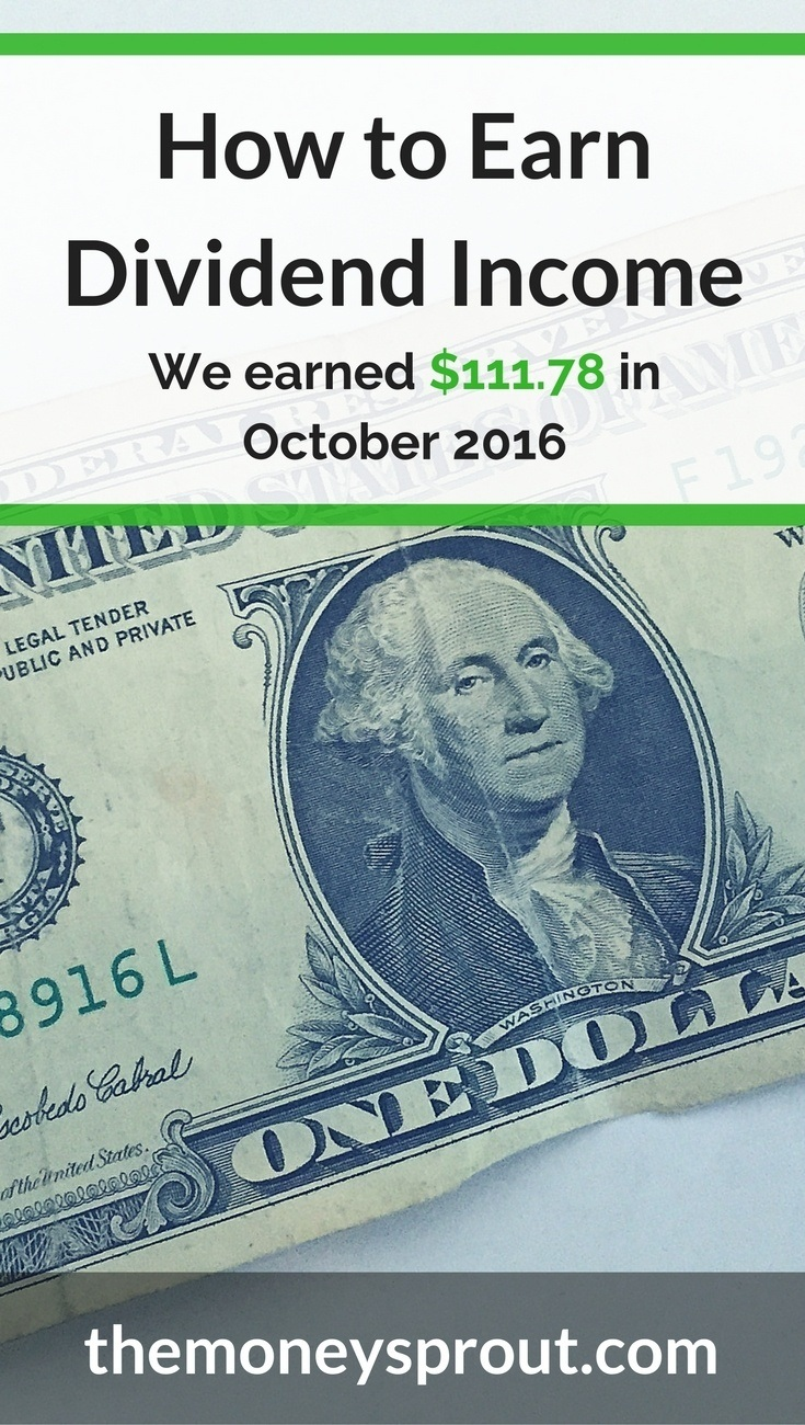 How We Earned $111.78 in Dividends in October 2016