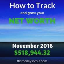 How to Track and Grow Your Net Worth - November 2016