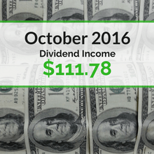 How we earned $111.78 in dividends for October 2016