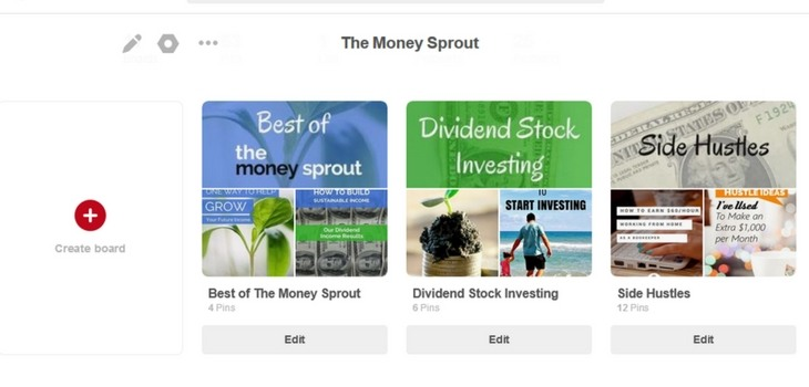 Money Sprout Pinterest Board Covers