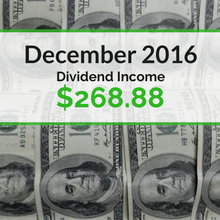 How we earned $268.88 in dividends for December 2016