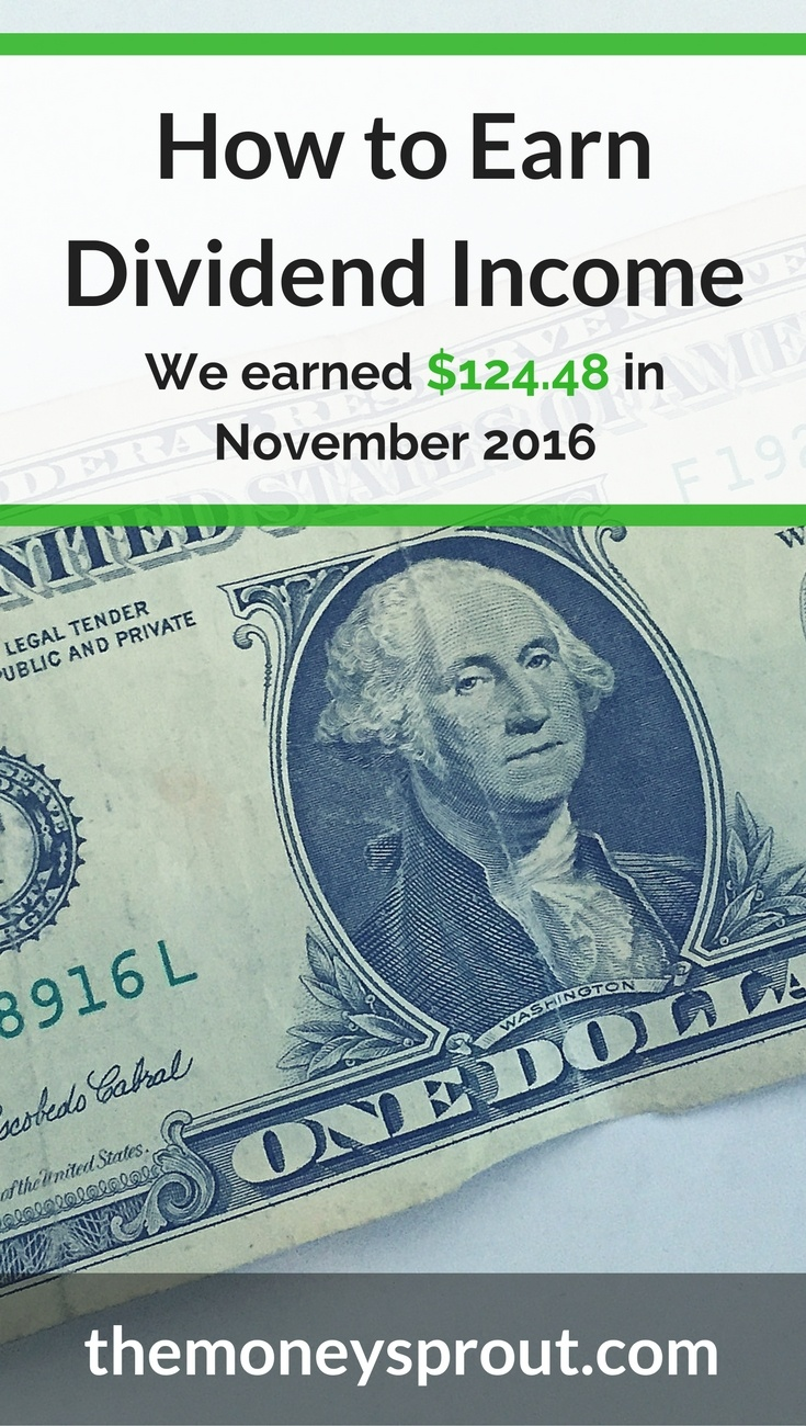 How We Earned $124.48 in Dividend Income in November 2016