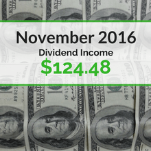 How we earned $124.48 in dividends for November 2016