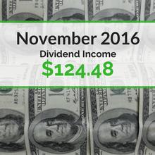 How we earned $124.48 in dividends for November 2016