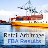 We made $.57 in our first retail arbitrage experiement by selling through FBA.