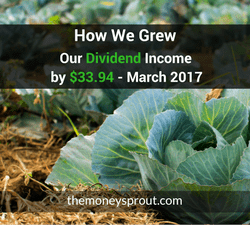 How We Grew Our Dividend Income by $33.94