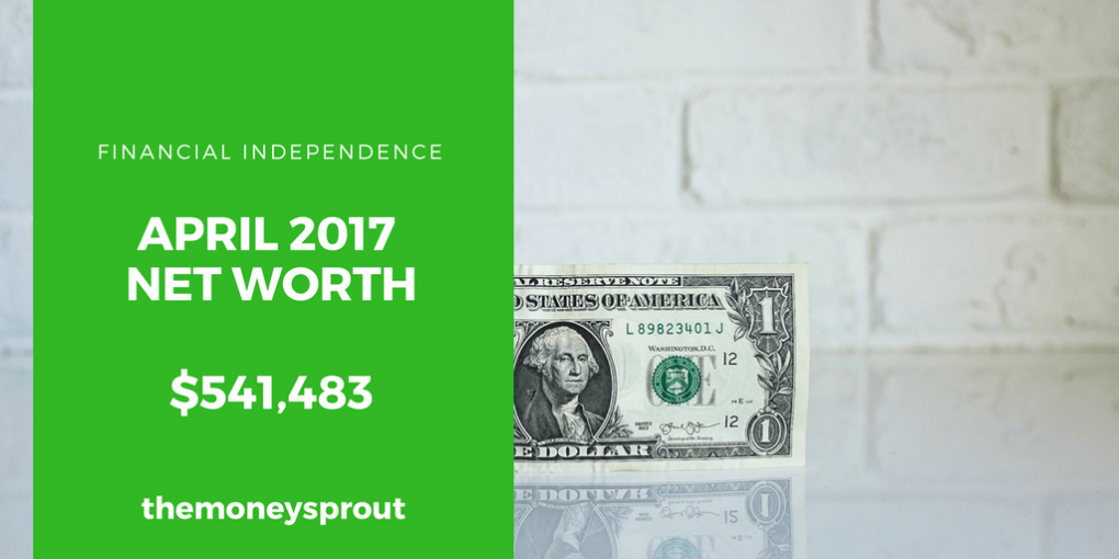 How We Grew Our Net Worth to Over $541,000 in April 2017