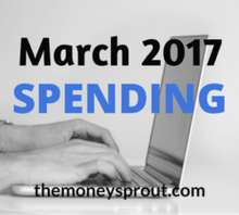 Our March 2017 Spending Budget