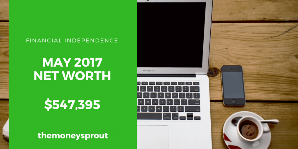 How We Grew Our Net Worth to Over $547,000 in May 2017