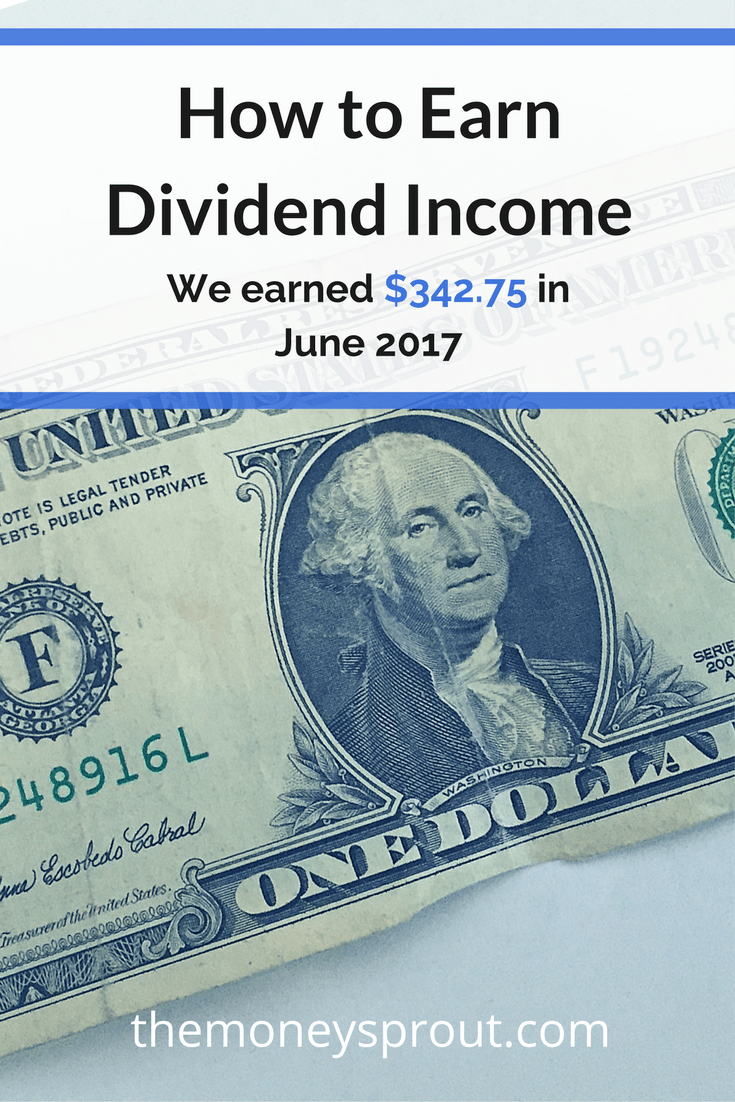 How We Earned $342.75 in Dividends in June 2017