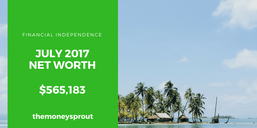 How We Grew Our Net Worth to $565,183 in July 2017