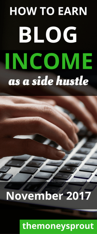 How to Start Earning Blogging Income as a Side Hustle - November 2017 Updates