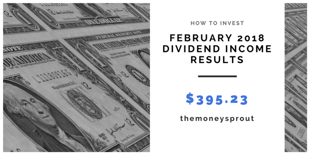 How Much Dividend Income Did We Earn in February 2018?