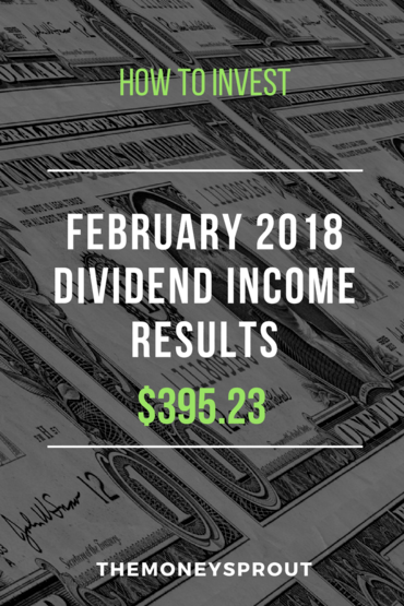 How We Earned $395.23 in Dividend Income During February 2018
