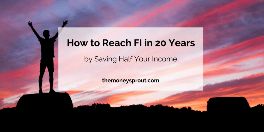 How to Reach Financial Independence in 20 Years by Saving Half Your Income