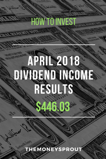 How We Earned $446.03 in Dividend Income During April 2018