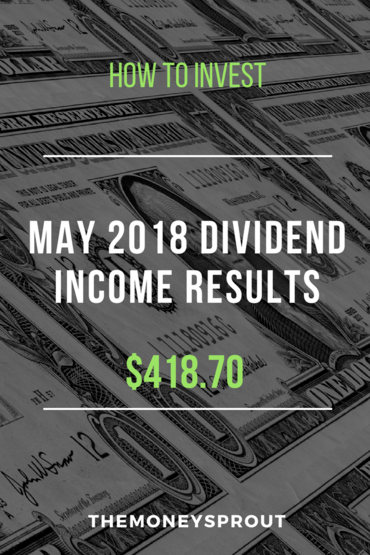 How We Earned $418.70 in Dividend Income During May 2018