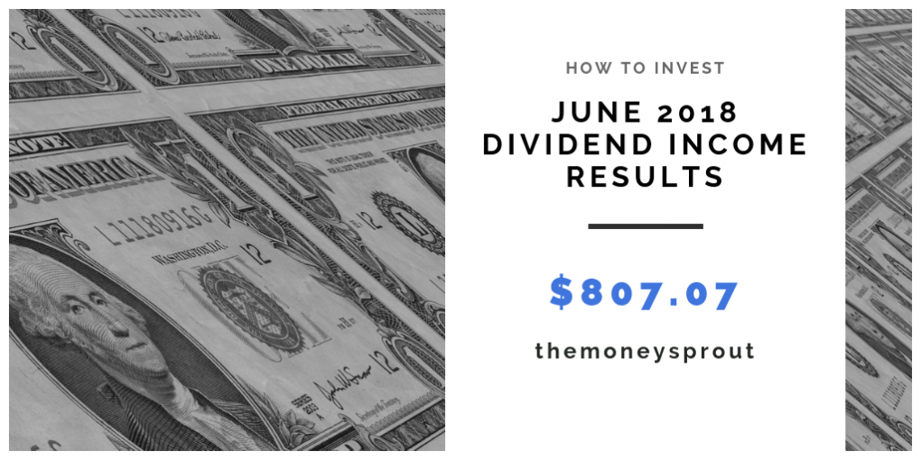 How Much Dividend Income Did We Earn in June 2018?
