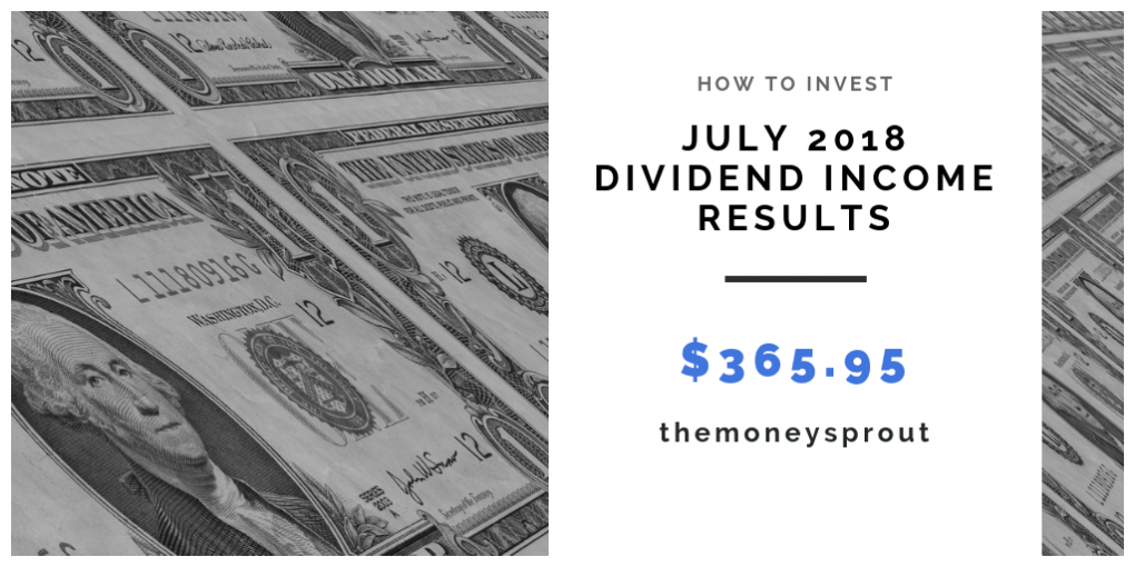 How Much Dividend Income Did We Earn in July 2018?