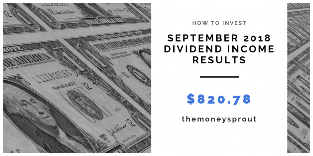 Dividend Income Results for September 2018