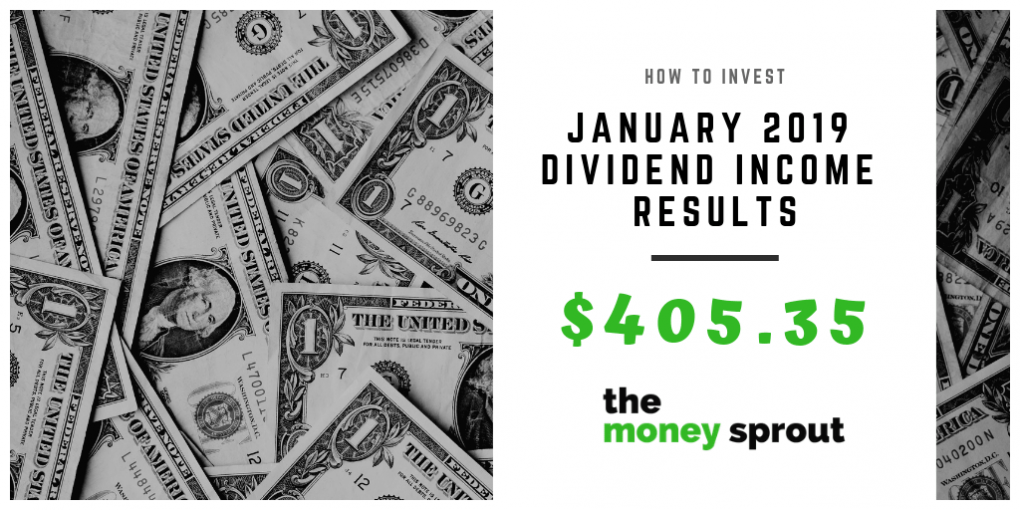 Dividend Income Results for January 2019