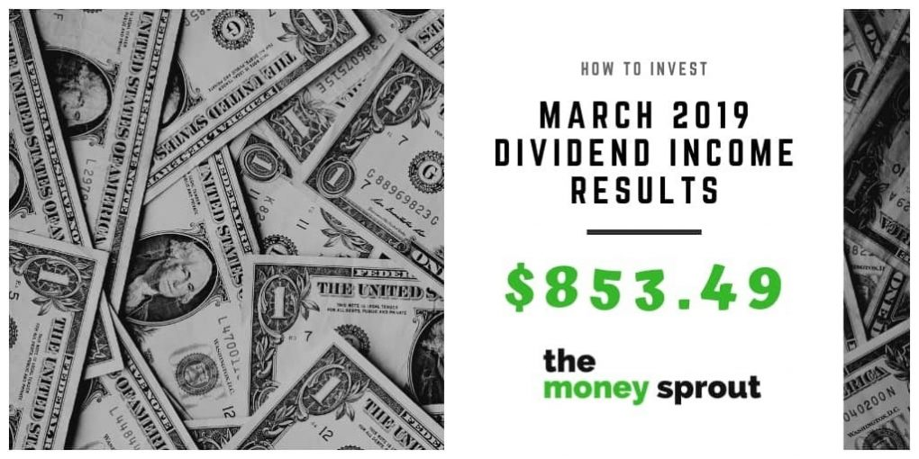 Dividend Income Results for March 2019